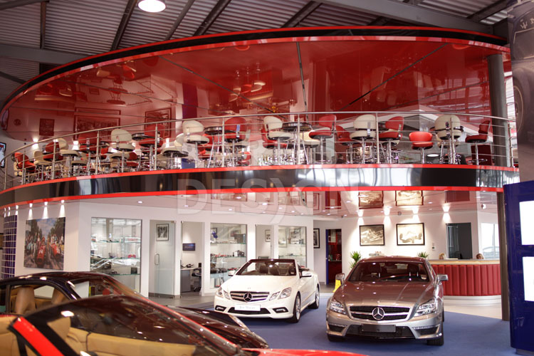 Joe Macaris Ferrari showroom