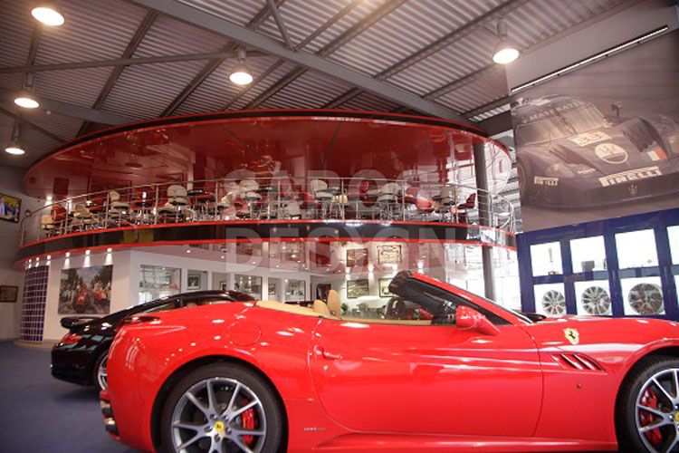 Joe Macaris Ferrari showroom1